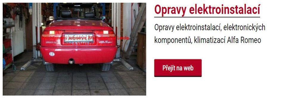 Opravy elektroinstalací automobilů