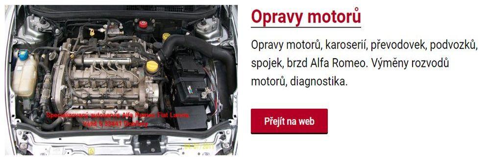 Opravy motorů osobních automobilů
