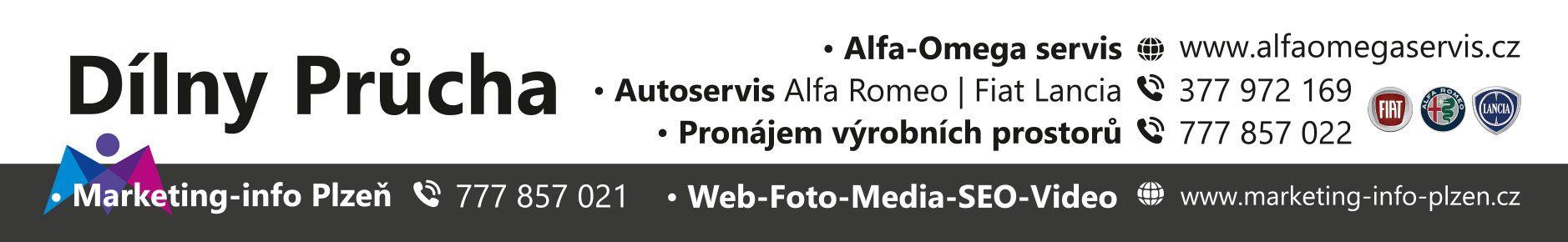 Alfa – Omega servis: Autoservis Alfa Romeo – Fiat – Lancia: Dílny Průcha